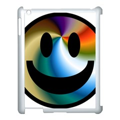 Simple Smiley In Color Apple Ipad 3/4 Case (white)