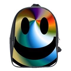 Simple Smiley In Color School Bags (XL)