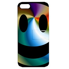 Simple Smiley In Color Apple iPhone 5 Hardshell Case with Stand