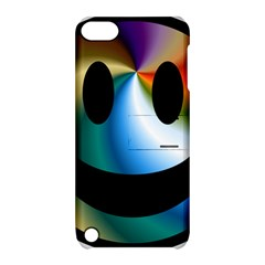 Simple Smiley In Color Apple Ipod Touch 5 Hardshell Case With Stand
