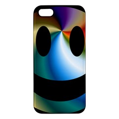 Simple Smiley In Color Apple iPhone 5 Premium Hardshell Case