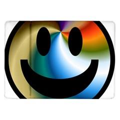 Simple Smiley In Color Samsung Galaxy Tab 10.1  P7500 Flip Case