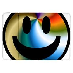 Simple Smiley In Color Samsung Galaxy Tab 8 9  P7300 Flip Case