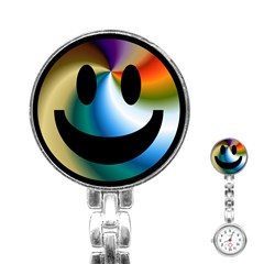 Simple Smiley In Color Stainless Steel Nurses Watch