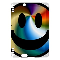 Simple Smiley In Color Kindle Fire HDX Hardshell Case