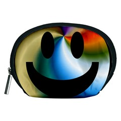 Simple Smiley In Color Accessory Pouches (medium)