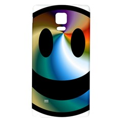 Simple Smiley In Color Galaxy Note 4 Back Case