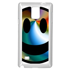 Simple Smiley In Color Samsung Galaxy Note 4 Case (White)