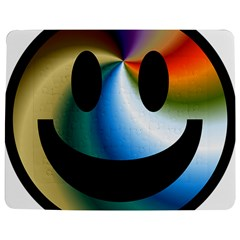 Simple Smiley In Color Jigsaw Puzzle Photo Stand (Rectangular)