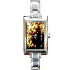 A Fractal Image Rectangle Italian Charm Watch