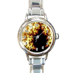 A Fractal Image Round Italian Charm Watch