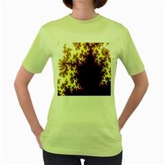 A Fractal Image Women s Green T Shirt