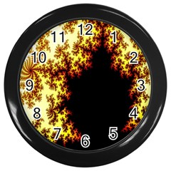 A Fractal Image Wall Clocks (Black)