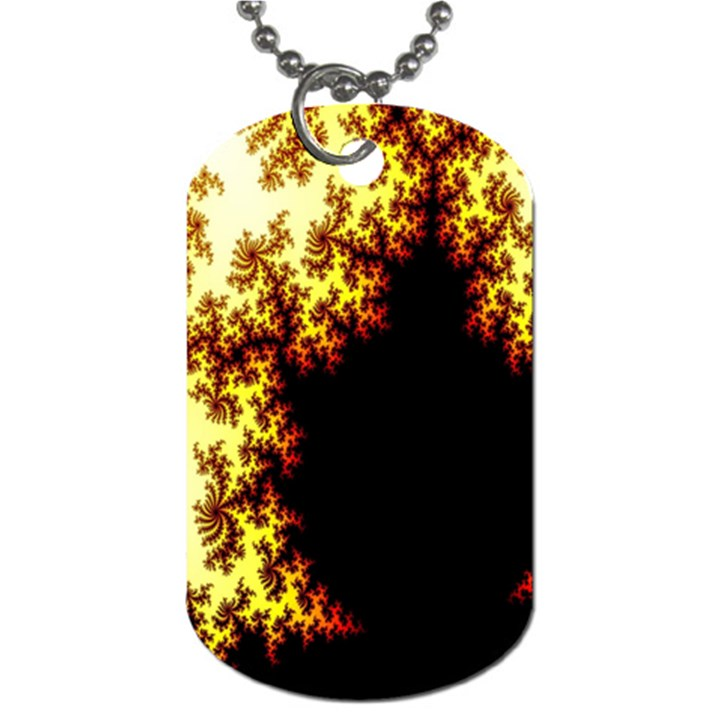 A Fractal Image Dog Tag (One Side)