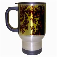 A Fractal Image Travel Mug (Silver Gray)
