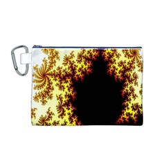 A Fractal Image Canvas Cosmetic Bag (m)