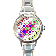 Color Ball Sphere With Color Dots Round Italian Charm Watch