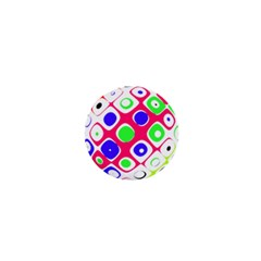 Color Ball Sphere With Color Dots 1  Mini Magnets