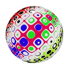 Color Ball Sphere With Color Dots Ornament (round)