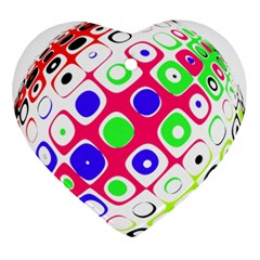 Color Ball Sphere With Color Dots Ornament (heart)