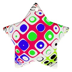 Color Ball Sphere With Color Dots Ornament (star)