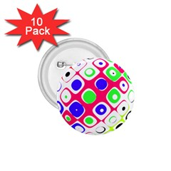 Color Ball Sphere With Color Dots 1 75  Buttons (10 Pack)