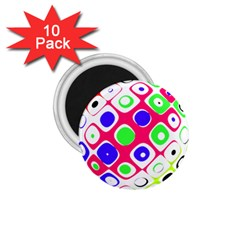 Color Ball Sphere With Color Dots 1.75  Magnets (10 pack)