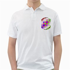 Color Ball Sphere With Color Dots Golf Shirts