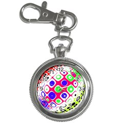 Color Ball Sphere With Color Dots Key Chain Watches