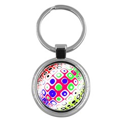 Color Ball Sphere With Color Dots Key Chains (round)