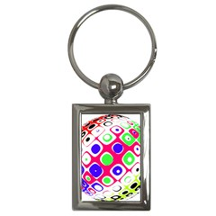 Color Ball Sphere With Color Dots Key Chains (rectangle)
