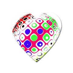 Color Ball Sphere With Color Dots Heart Magnet