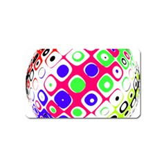 Color Ball Sphere With Color Dots Magnet (Name Card)