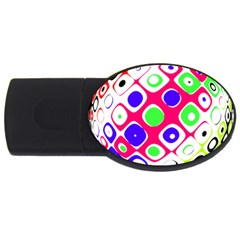 Color Ball Sphere With Color Dots USB Flash Drive Oval (1 GB)