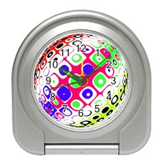 Color Ball Sphere With Color Dots Travel Alarm Clocks