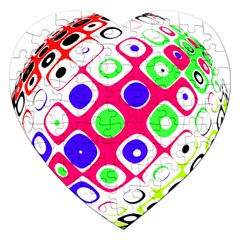 Color Ball Sphere With Color Dots Jigsaw Puzzle (Heart)