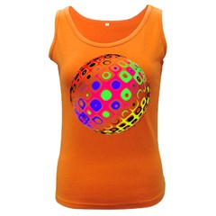 Color Ball Sphere With Color Dots Women s Dark Tank Top