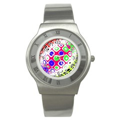 Color Ball Sphere With Color Dots Stainless Steel Watch