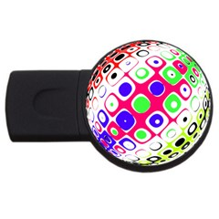 Color Ball Sphere With Color Dots USB Flash Drive Round (4 GB)