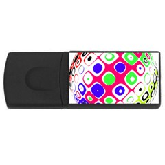 Color Ball Sphere With Color Dots USB Flash Drive Rectangular (4 GB)