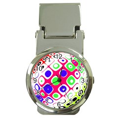 Color Ball Sphere With Color Dots Money Clip Watches