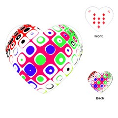 Color Ball Sphere With Color Dots Playing Cards (Heart)