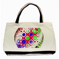 Color Ball Sphere With Color Dots Basic Tote Bag