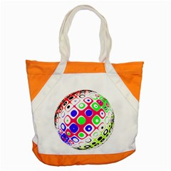Color Ball Sphere With Color Dots Accent Tote Bag
