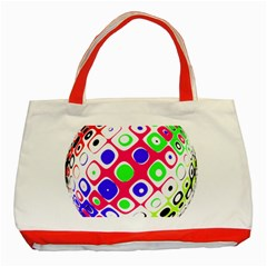 Color Ball Sphere With Color Dots Classic Tote Bag (red)