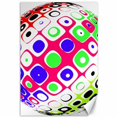 Color Ball Sphere With Color Dots Canvas 12  x 18