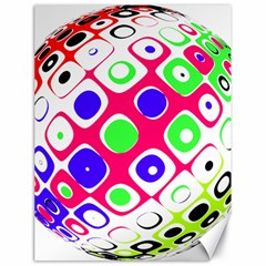 Color Ball Sphere With Color Dots Canvas 18  x 24