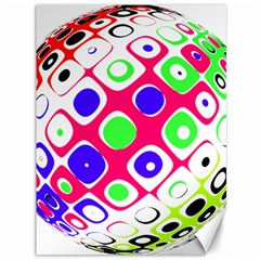 Color Ball Sphere With Color Dots Canvas 36  x 48