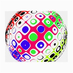 Color Ball Sphere With Color Dots Small Glasses Cloth (2-Side)