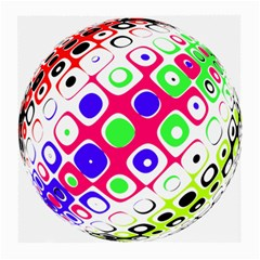 Color Ball Sphere With Color Dots Medium Glasses Cloth